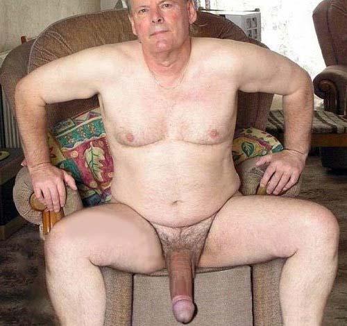 vellho gordo pelado pica grande a mostra