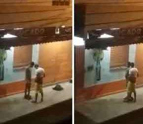 SpyCam flagra dois caras transando no meio da rua no RJ