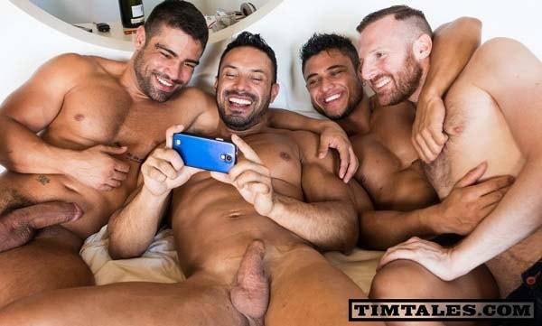 Tim Kruger, Flex, Diego Lauzen, Wagner Vittoria sexo gay