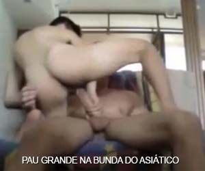 Asiático se arrebenta no pau grande do coroa - Asian Boy Amateur