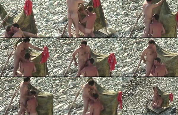 homem transando com homem praia de nudismo