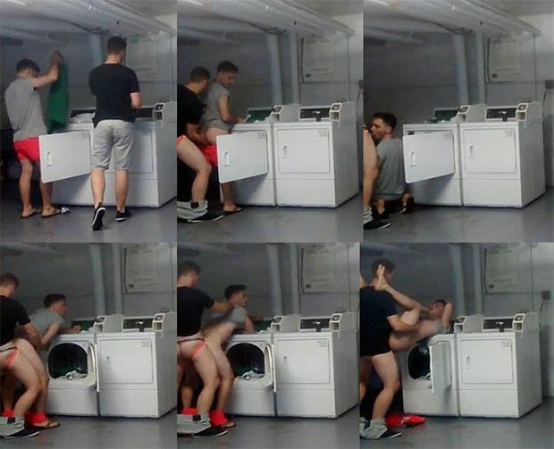 sexo gay na lavanderia