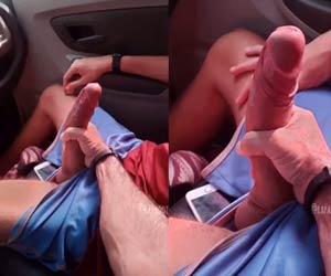 Uber manja rola bate punheta no dotadão do interior