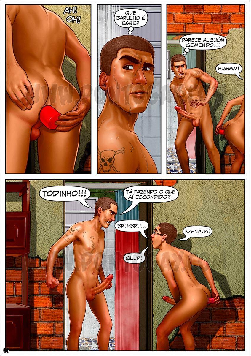 Espiando irmão banheiro - historia gay cartoon