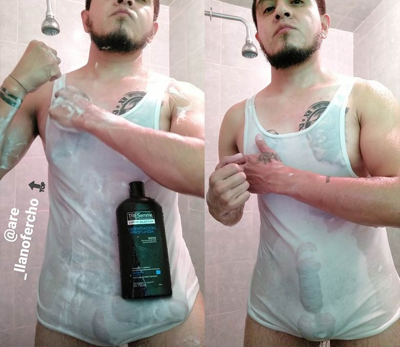 ShampooChallenge homem aloprado pau enorme
