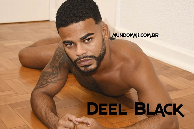 negro pelado ensaio nu Deel Black
