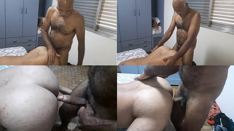 homem mais velho peludo dotado comendo gay