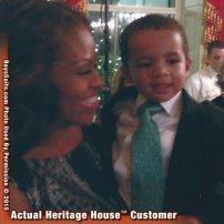 Michelle Obama annd Ashton 2014