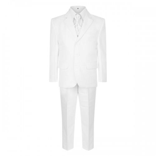 5 piece boys white suit page boy