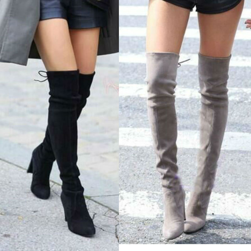 9b63ea46facf Over The Knee Lace Up Sexy Boots - Boy to Girl