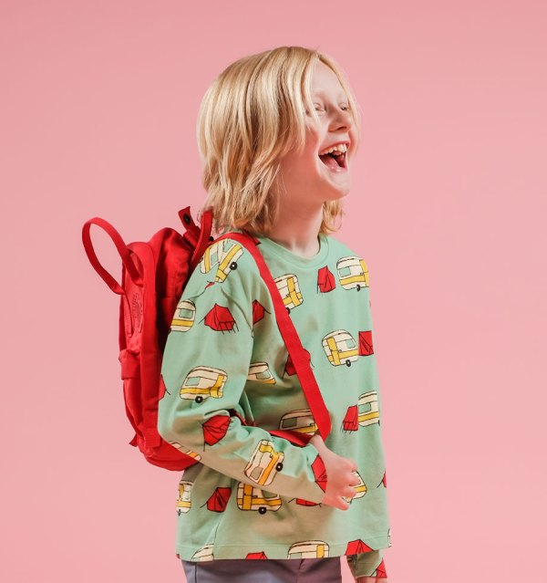 Boy wonder long tee caravan and bag