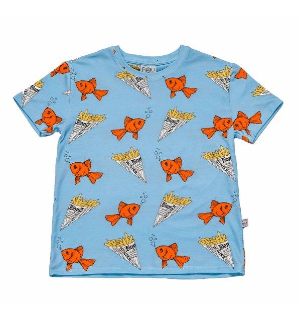 Boy wonder short tee fish cutout front