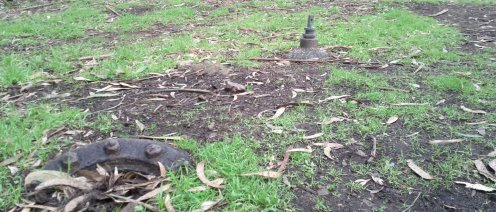 Old iron pipes and valves can be tripping hazards if you stray from the outlined paths, but are archaeologically fascinating.