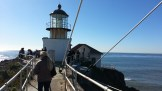 Coming off the bridge to the lighthouse at last.