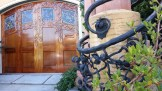 Truly phenomenal metalwork and wooden door on Graystone Terrace.