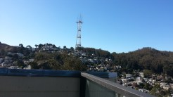 Southern view of Sutro Tower from the roof deck.