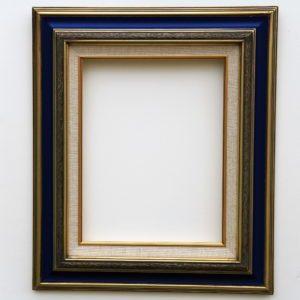 Cadre à coins bouchés – Format toiles – Or et Bleu foncé