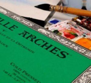 Bloc Arches Papier Aquarelle 300 GRS . Grain fin. 20 Feuilles
