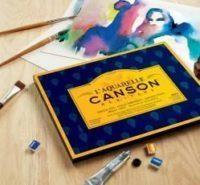 Canson Héritage Papier aquarelle grain fin 300 grs. Format 31×41. Bloc 20f