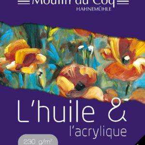 Moulin du coq Papier Huile et Acrylique 230 grs.Bloc 10 Feuilles