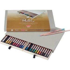 Bruynzeel Coffret bois 24 crayons de pastel