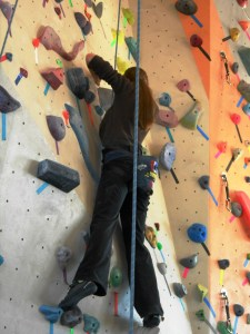 teen program rock climber