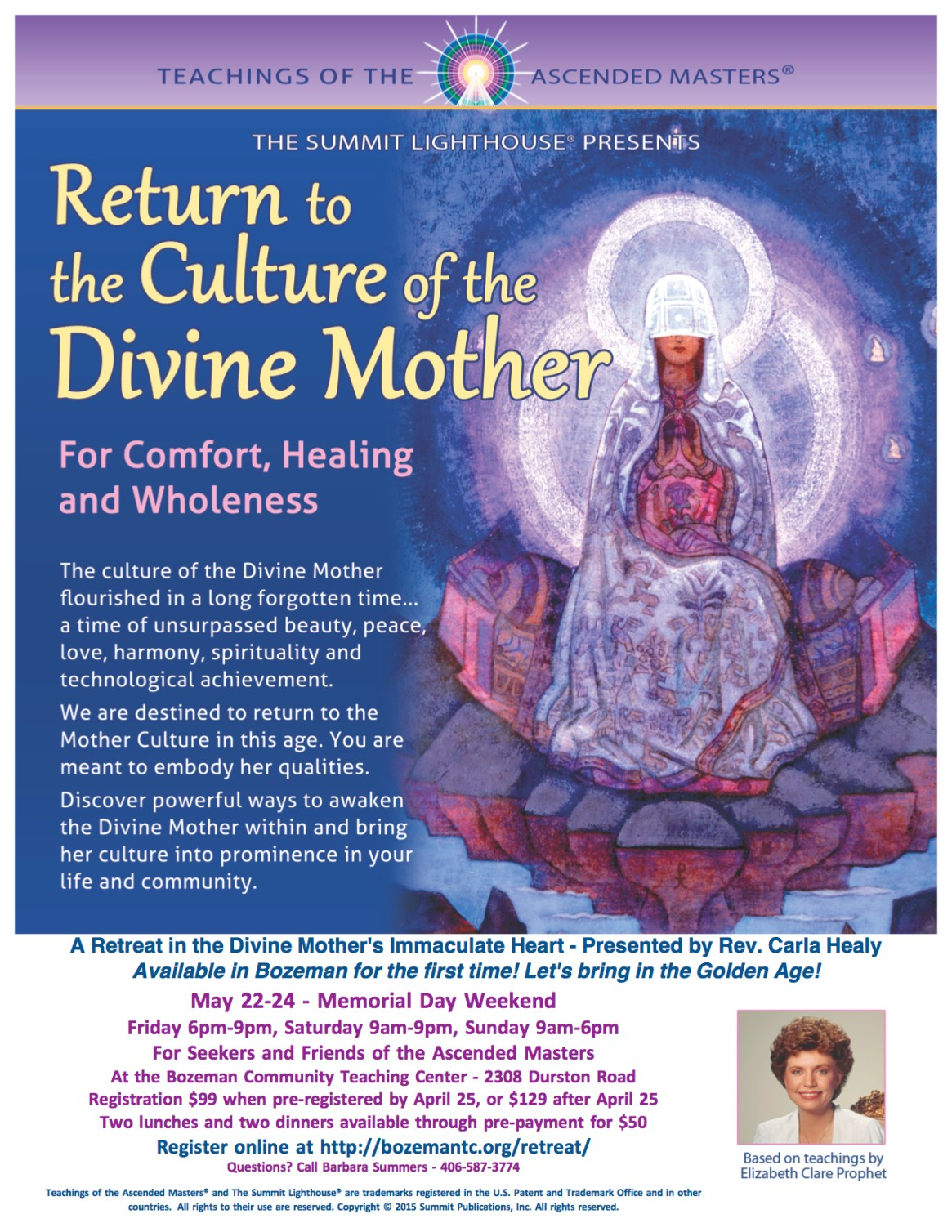 3-24 Poster Return to the Culture of the Divine Mother