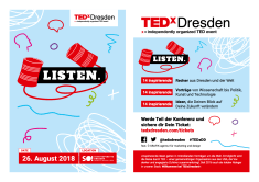 TEDxDresden 2018 flyer