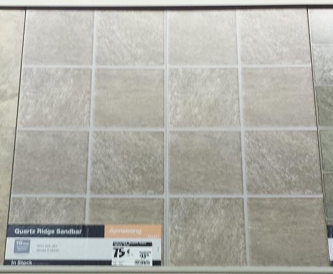 floor tile as cheap back splash
