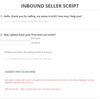 Inbound Call Center: Sample Script For Inbound Call Center