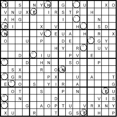 Magic Word Square: New Word Sudoku Puzzles for Thursday, 7