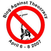 Blog against theocracy logo, Statute of Liberty