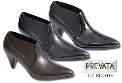 Prevata Oz Bootie in Brown, Black, Black Patent Leather