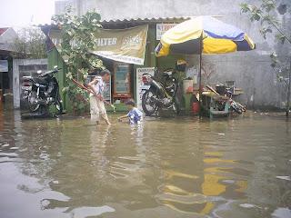 Foto Banjir di Penjaringan, Jakut