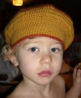 Virkad barnbasker mönster
