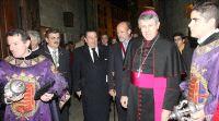 Vázquez junto al alcalde y el arzobispo de Valladolid