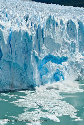 Perito Moreno Glacier calving, Patagonia, photo by Hanmi Meyer