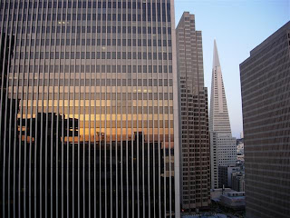 Hyatt Regency San Francisco room view of Transamerica building