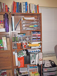 Can you even reach the research books above the top shelf, shorty?