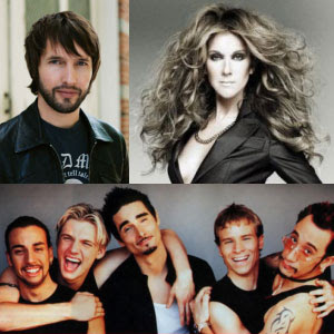 Celine, James, and Backstreet