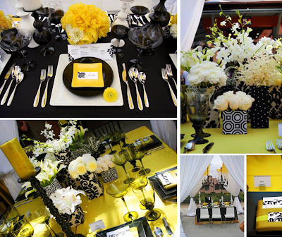 black and white ideas for a party