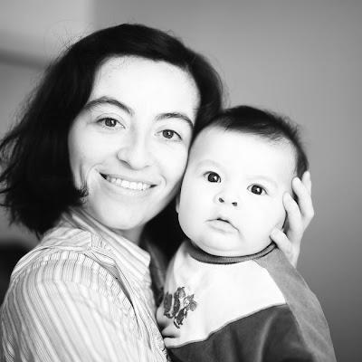Mi esposa Paz y nuestro hijo Benjam�n