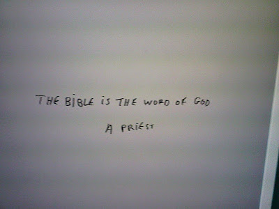 The Bible is the Word of God - A priest