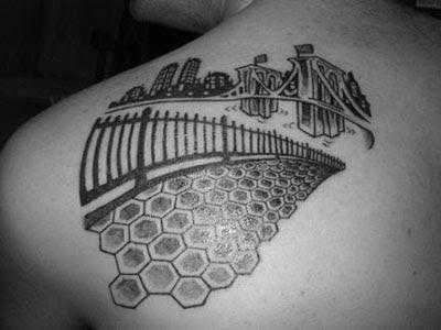 (Tattoo by Adam Suerte, Brooklyn Tattoo. Thanks to Mr. Lee.)
