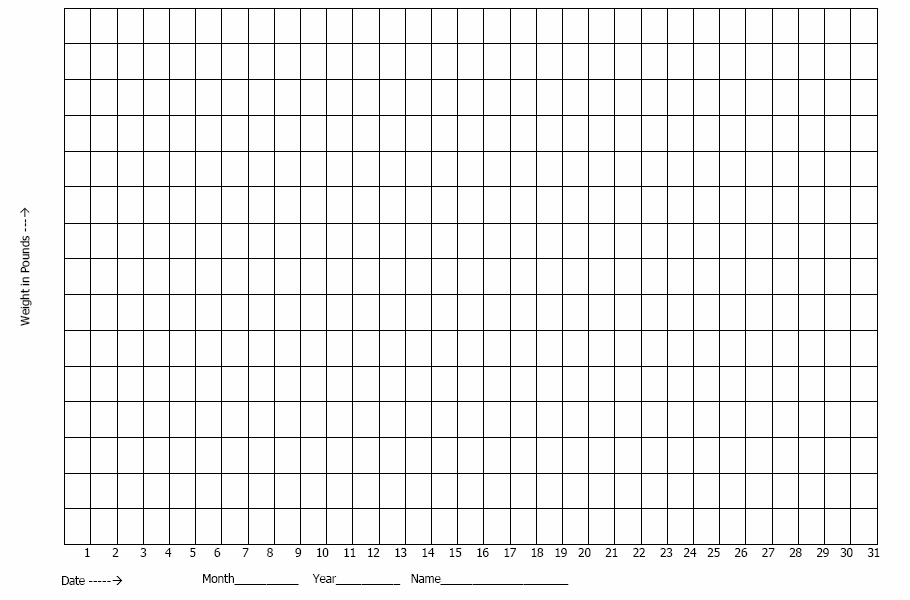 Graph Paper: Blank Weight Loss Graph