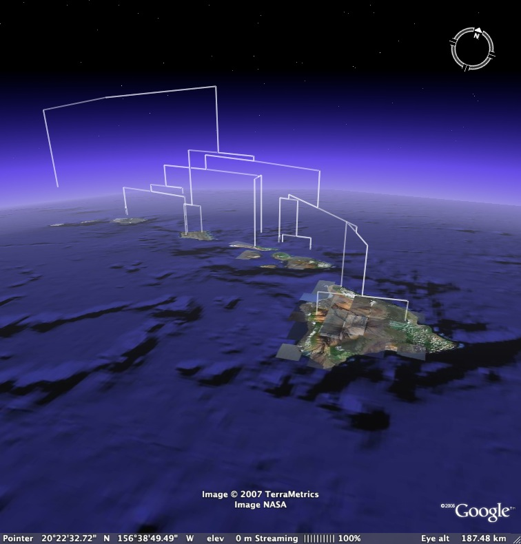 Google Earth Phylogeny screenshot