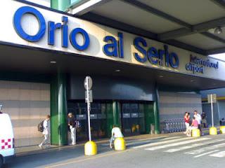 Fachada del aeropuerto de Bérgamo
