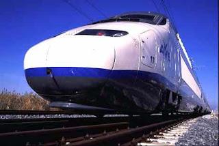 Locomotora de un tren AVE