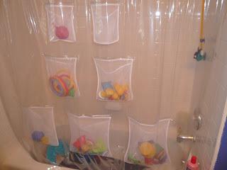 storing bath toys