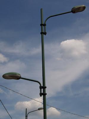 Lampioni moderni a Rovigo